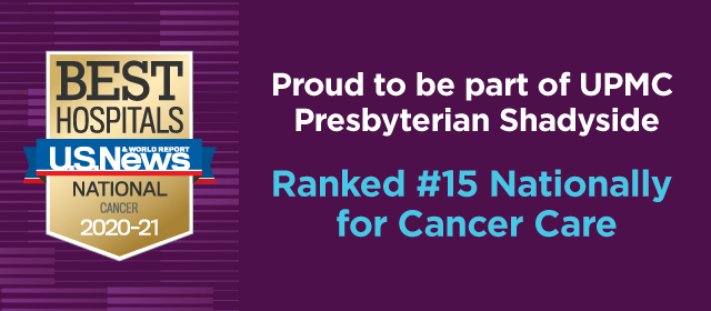 Ranked #15 Nationally for Cancer Care by U.S News & World Report